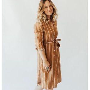 CJLA Simone dress Mustard- NWOT